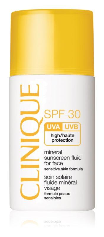 Clinique Sun минерален слънцезащитен флуид за лице  SPF30