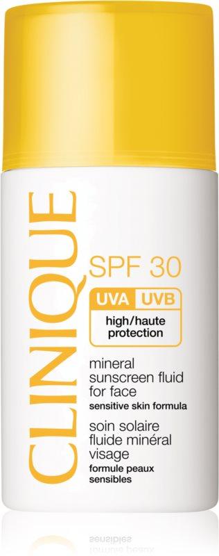 Clinique Sun minerální opalovací fluid na obličej SPF 30