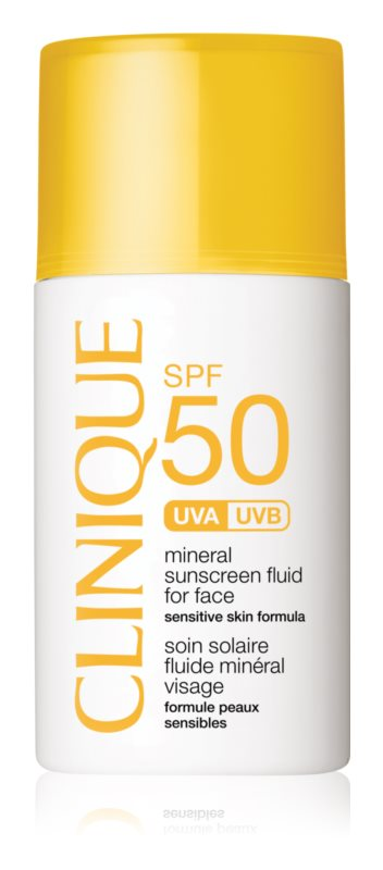 Clinique Sun мінеральний сонцезахисний флюїд для обличчя SPF 50