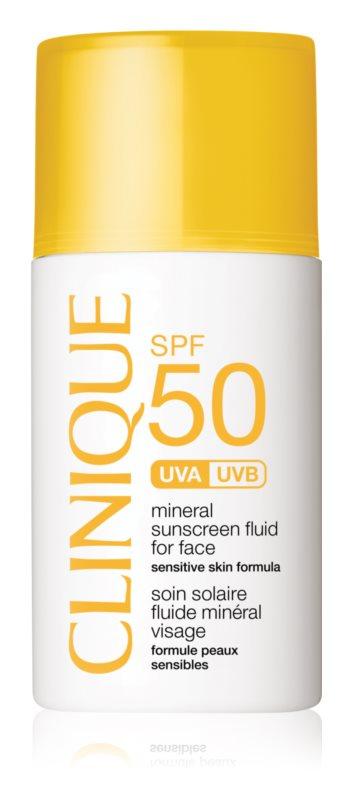 Clinique Sun minerálny opaľovací fluid na tvár SPF 50