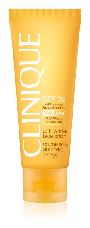Clinique Sun крем для засмаги обличчя з ефектом корекції зморшок SPF 30