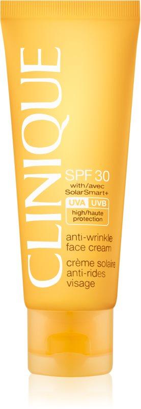 Clinique Sun creme bronzeador para rosto com efeito antirrugas SPF 30
