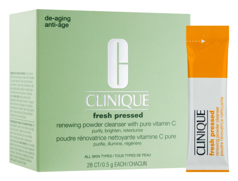 Clinique Fresh Pressed Cleansing Powder With Vitamine C