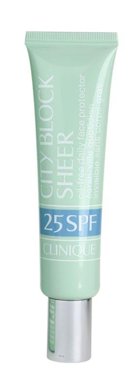 Clinique City Block Sheer schützende Gesichtscreme SPF 25