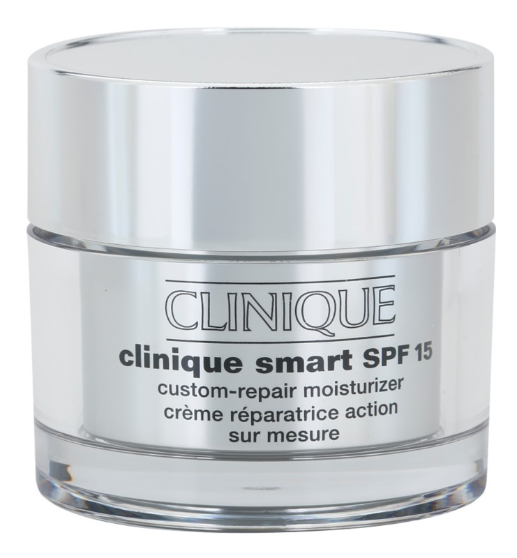 Clinique Clinique Smart crema anti-rid hidratanta pentru ten uscat și combinat crema anti-rid hidratanta pentru ten uscat și foarte uscat SPF 15