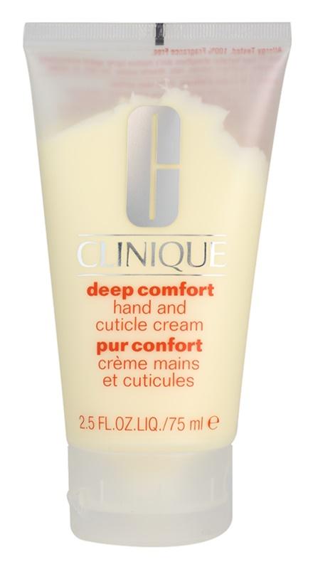 Clinique Deep Comfort creme de hidratação profunda para mãos, unhas e cutículas