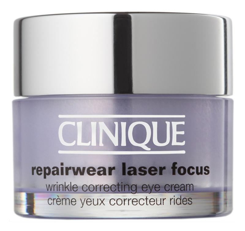 Clinique Repairwear Laser Focus creme contorno de olhos antirrugas para todos os tipos de pele