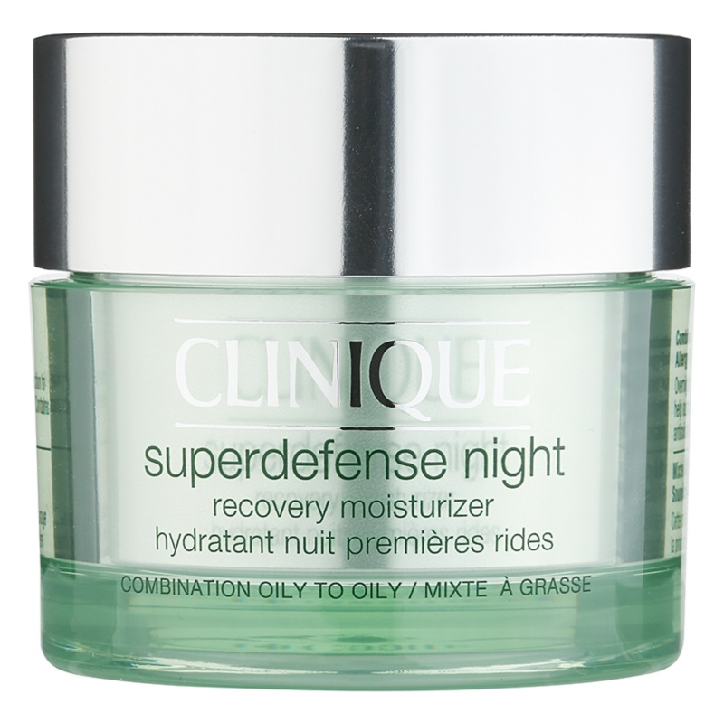 Clinique Superdefense Crema de noapte hidratanta anti-rid pentru ten mixt si gras