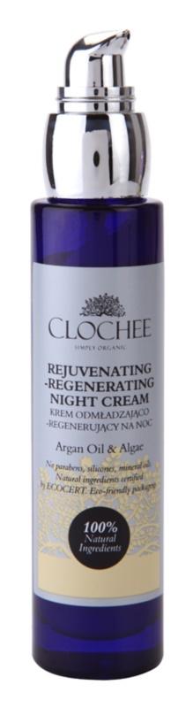 Clochee Simply Organic crème de nuit régénérante effet rajeunissant