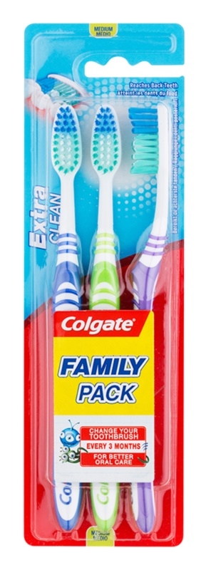Colgate Extra Clean medium fogkefék 3 db