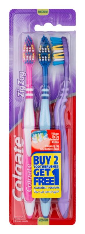 Colgate Zig Zag brosses à dents medium 3 pcs