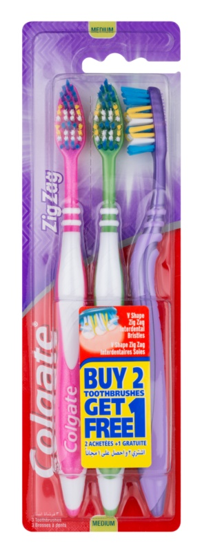 Colgate Zig Zag četkice za zube medium 3 kom