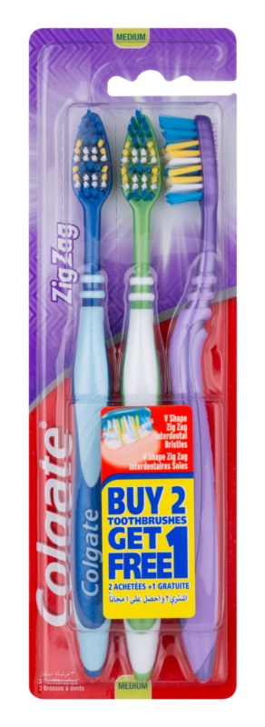 Colgate Zig Zag зубні щіточки medium 3 шт