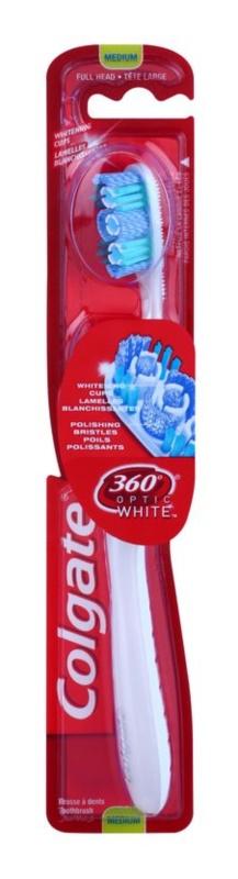 Colgate 360°  Optic White zubní kartáček medium