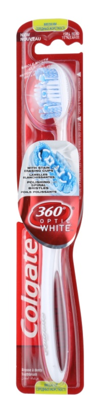 Colgate 360°  Optic White escova de dentes medium