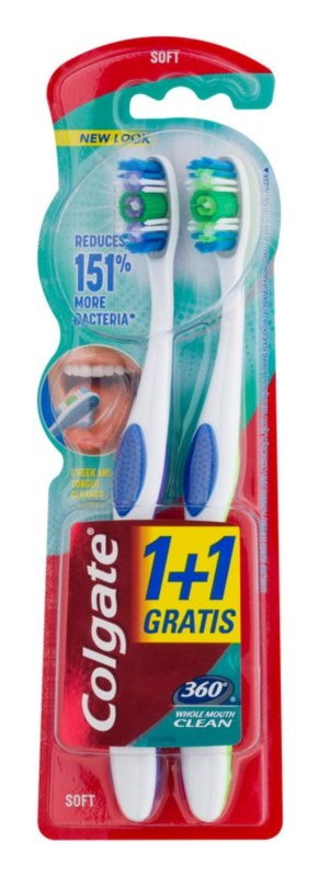 Colgate 360° Whole Mouth Clean Soft Toothbrushes 2 pcs