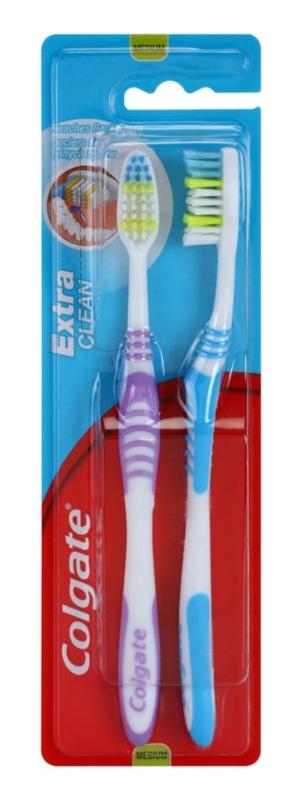 Colgate Extra Clean зубні щіточки medium 2 шт