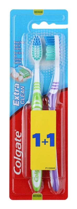 Colgate Extra Clean četkice za zube medium 2 kom