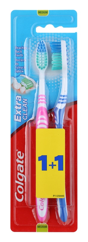 Colgate Extra Clean periuta de dinti Medium 2 pc