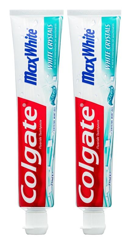 Colgate Max White White Crystals dentifrice blanchissant gel pour une haleine fraîche