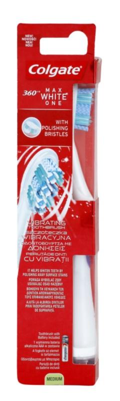 Colgate Max White One 360° vibrační zubní kartáček s baterií medium
