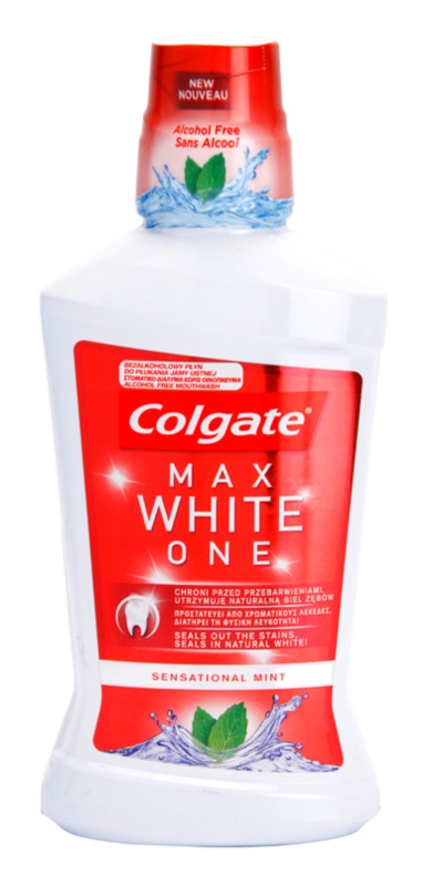 Colgate Max White One enjuague bucal sin alcohol