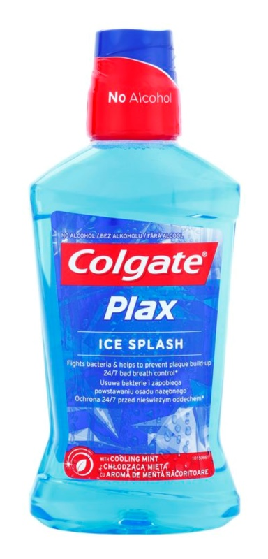 Colgate Plax Ice Splash enjuague bucal antibacteriano para aliento fresco