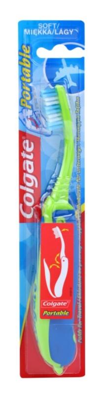 Colgate Portable składana, podróżna szczoteczka do zębów soft