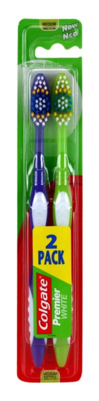 Colgate Premier White zubní kartáčky medium 2 ks