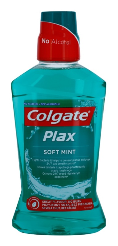 Colgate Plax Soft Mint płyn do płukania jamy ustnej przeciw płytce nazębnej