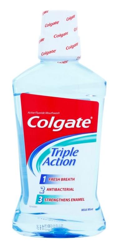 Colgate Triple Action enjuague bucal antibacteriano para aliento fresco
