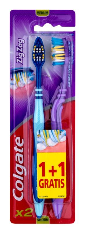 Colgate Zig Zag zubní kartáčky medium 2 ks