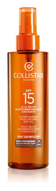 Collistar Sun Protection λάδι μαυρίσματος SPF 15