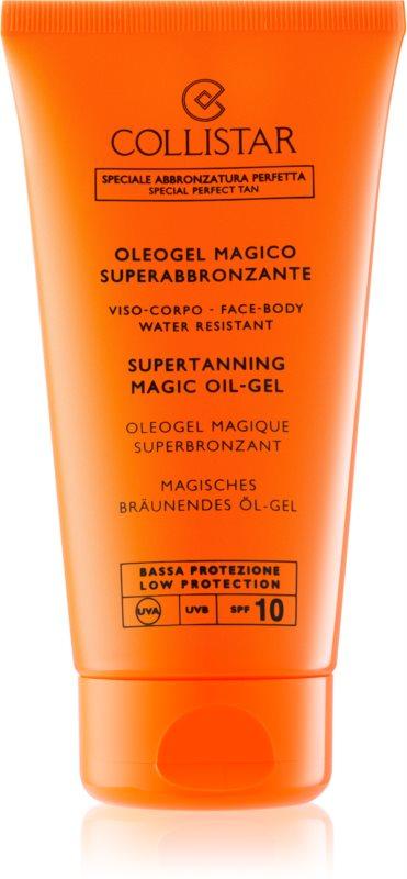 Collistar Sun Protection gel huile pour un bronzage rapide et durable SPF 10