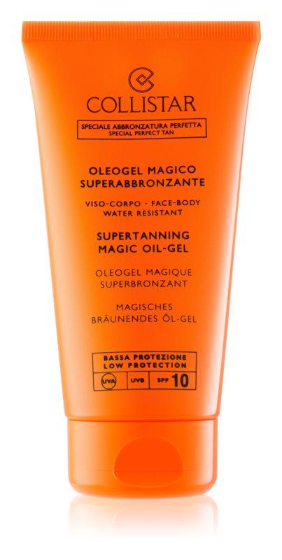 Collistar Sun Protection oljasti gel za pospešitev in podaljšanje obstojnosti porjavele kože SPF 10