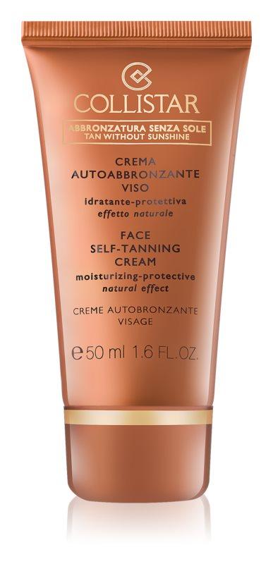 Collistar Self Tanners crème auto-bronzante visage