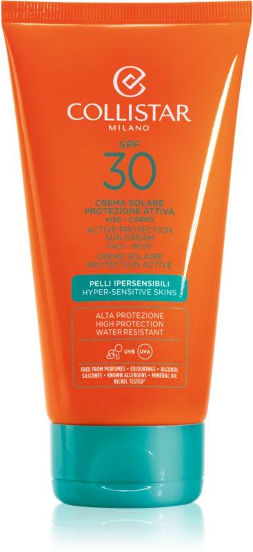 Collistar Sun Protection водостійкий крем для засмаги SPF 30