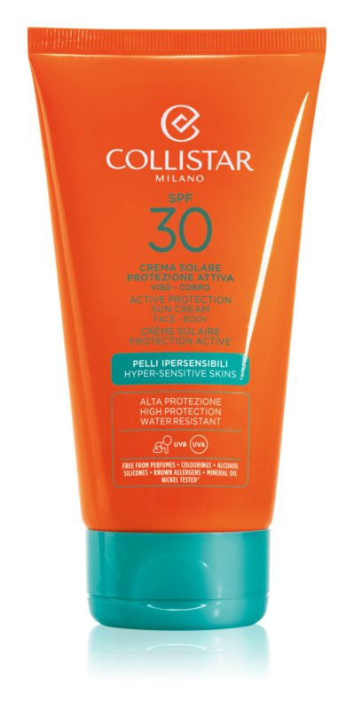 Collistar Sun Protection Waterproef Zonnebrandcrème SPF 30