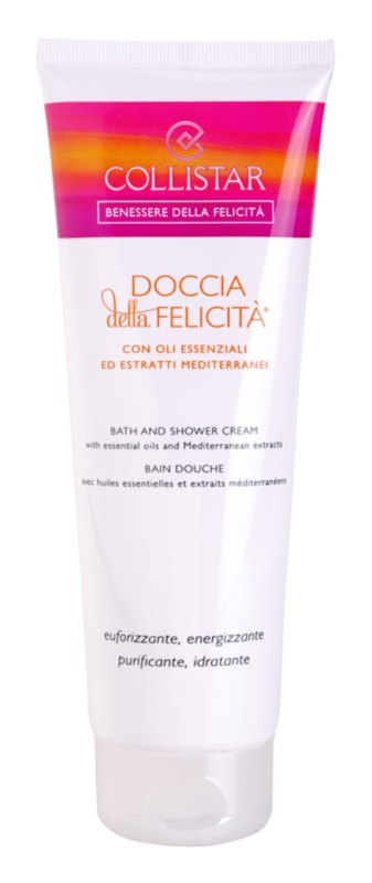 Collistar Benessere Della Felicitá gel-crema de dus cu uleiuri esentiale si extracte din plante mediteraneene.