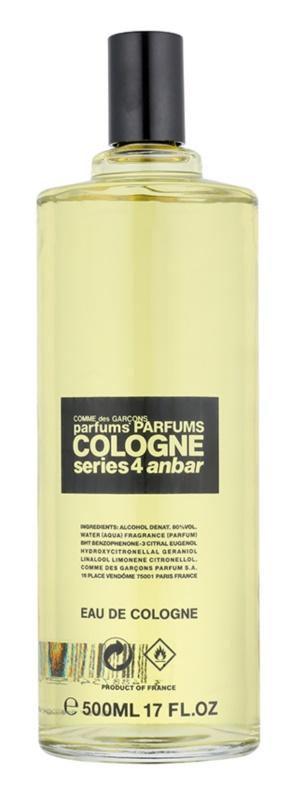 Comme des Garçons Series 4 Cologne: Anbar Eau de Cologne unisex 500 ml