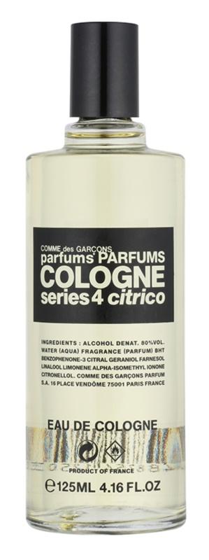 Comme des Garçons Series 4 Cologne: Citrico eau de Cologne mixte 125 ml