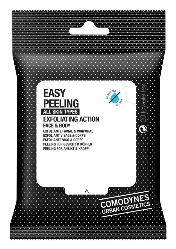 Comodynes Easy Peeling Exfoliating Tissues for Face and Body