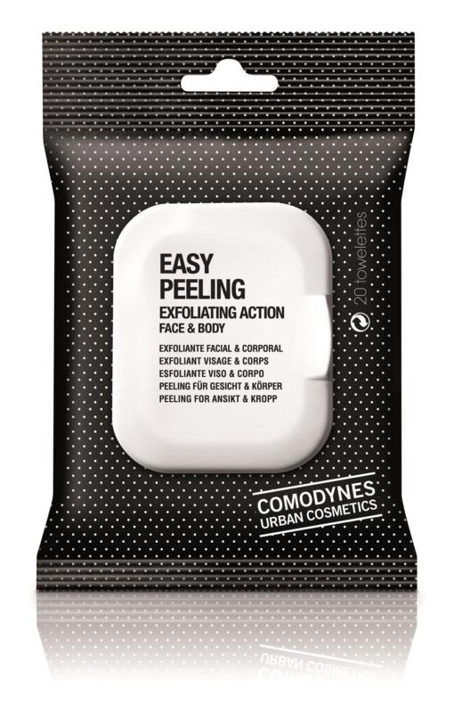 Comodynes Easy Peeling Șervețele exfoliante  pentru față și corp
