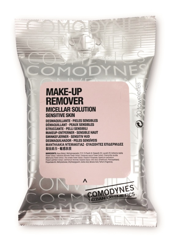Comodynes Make-up Remover Micellar Solution Cleansing Wipes For Sensitive Skin