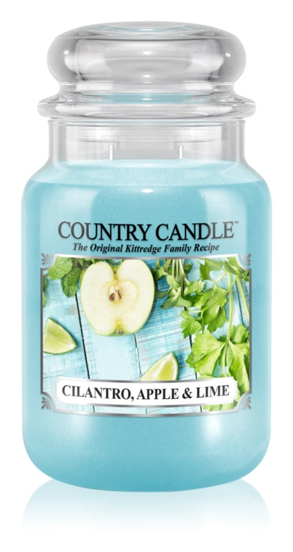Country Candle Cilantro, Apple & Lime vonná sviečka 652 g
