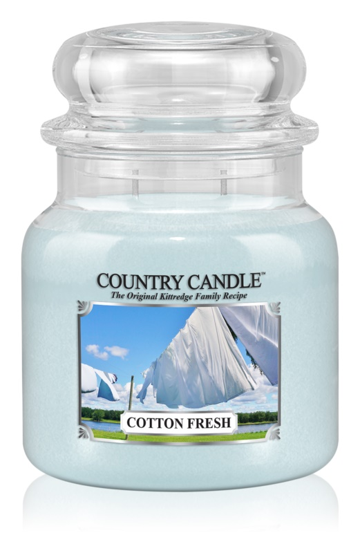 Country Candle Cotton Fresh candela profumata 453 g