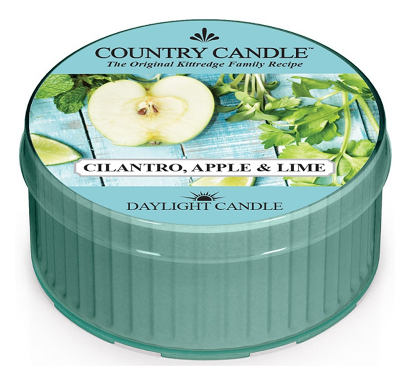 Country Candle Cilantro, Apple & Lime Theelichtje  42 gr