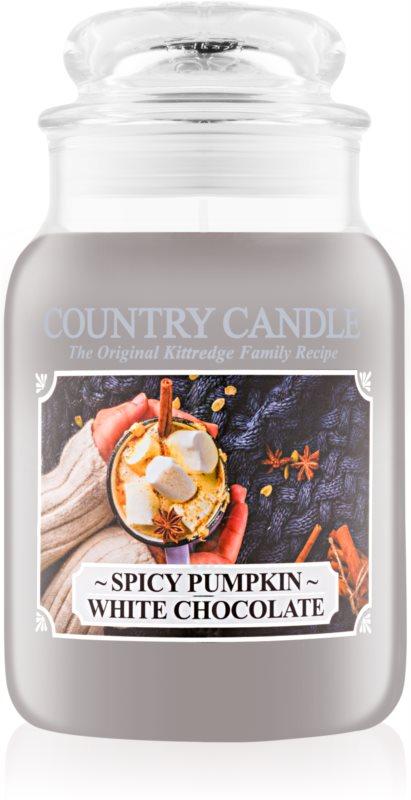Country Candle Spicy Pumpkin White Chocolate vonná svíčka 652 g