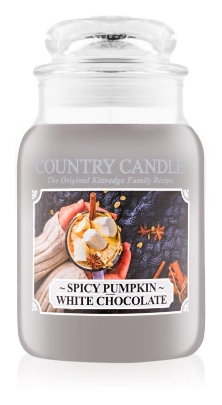 Country Candle Spicy Pumpkin White Chocolate vonná sviečka 652 g