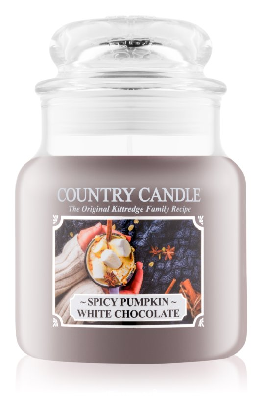 Country Candle Spicy Pumpkin White Chocolate vonná sviečka 453,6 g